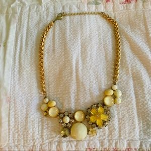 Modcloth Yellow & Cream Statement Necklace
